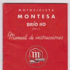 Coches y Motocicletas: MONTESA BRIO 110 125C.C. MANUAL DE INSTRUCCIONES. PERMANYER, S.A.. Lote 98512847