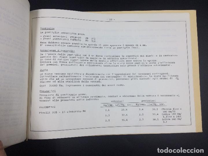 Coches y Motocicletas: Manual de uso y mantenimiento Lamborghini P400 Miura. Original. Uso e manutencione. - Foto 8 - 98637723