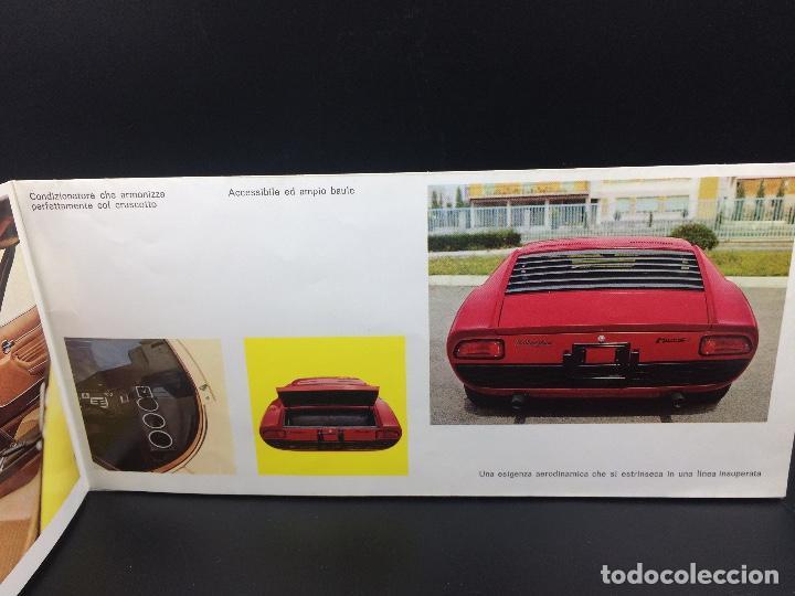 Coches y Motocicletas: Catálogo desplegable de publicidad del Lamborghini Miura P400 S - Foto 6 - 98638519