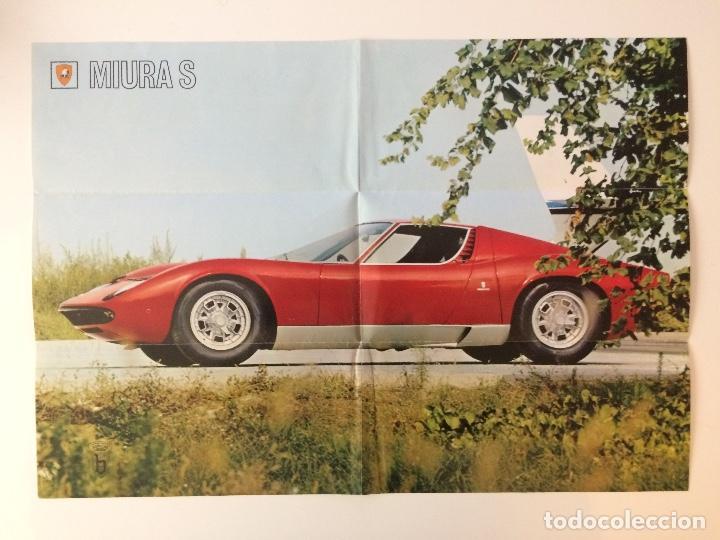 Coches y Motocicletas: Catálogo desplegable de publicidad del Lamborghini Miura P400 S - Foto 7 - 98638519