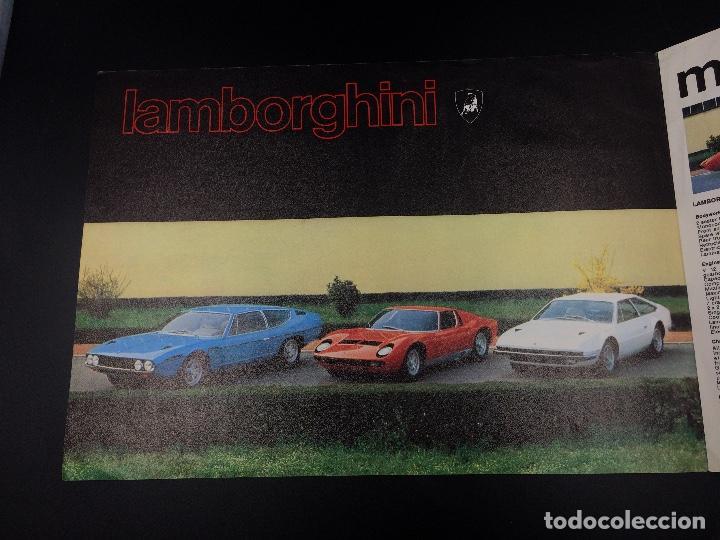 Coches y Motocicletas: Folleto publicitario original Lamborghini Miura, Espada, Jarama - Foto 2 - 98639571