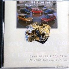 Coches y Motocicletas: CD ORIGINAL- DOSSIER DE PRENSA. GAMA RENAULT CAJA VELOCIDADES AUTOMÁTICA.. Lote 98942519