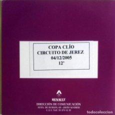 Coches y Motocicletas: CD ORIGINAL- DOSSIER DE PRENSA. RENAULT COPA CLIO CIRCUITO DE JEREZ - 2005.. Lote 99168319