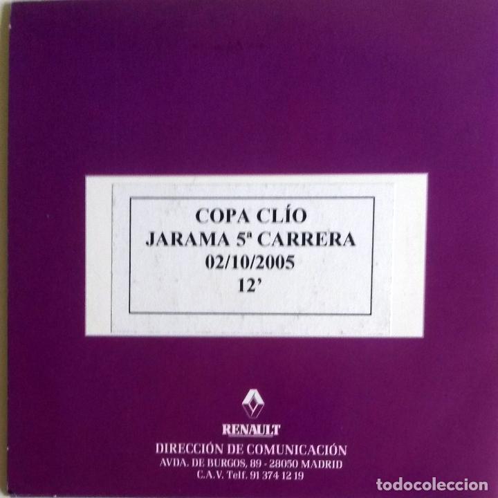 CD ORIGINAL- DOSSIER DE PRENSA. RENAULT COPA CLIO CIRCUITO DE JARAMA 5ª CARRERA- 2005. (Coches y Motocicletas Antiguas y Clásicas - Catálogos, Publicidad y Libros de mecánica)