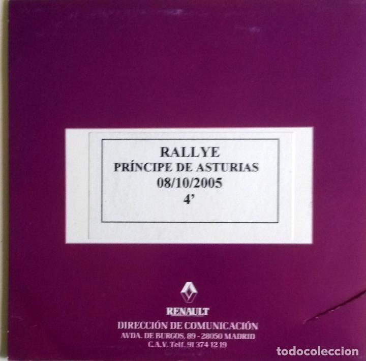 CD ORIGINAL- DOSSIER DE PRENSA. RENAULT RALLYE PRINCIPE DE ASTURIAS - 2005. (Coches y Motocicletas Antiguas y Clásicas - Catálogos, Publicidad y Libros de mecánica)