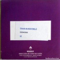 Coches y Motocicletas: CD ORIGINAL- DOSSIER DE PRENSA. RENAULT CIRCUITO DE MONTMELÓ - 2005.. Lote 99169347