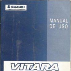 Coches y Motocicletas: SUZUKI VITARA - MANUAL DE USO (1ª EDICIÓN ABRIL 1990) + RED DE SERVICIOS (MAYO 1990). Lote 99176919