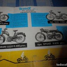 Coches y Motocicletas: CATALOGO MOTOS TERROT 1963. Lote 99215139