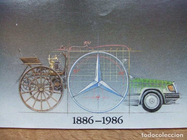 Coches y Motocicletas: MERCEDES BENZ CALENDARIO PROMOCIONAL CENTENARIO AÑO 1986 - Foto 3 - 99366083