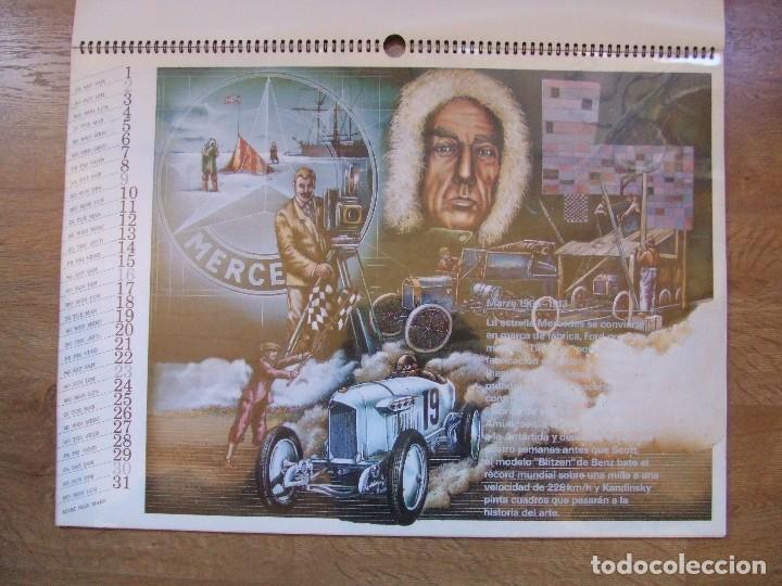 Coches y Motocicletas: MERCEDES BENZ CALENDARIO PROMOCIONAL CENTENARIO AÑO 1986 - Foto 10 - 99366083