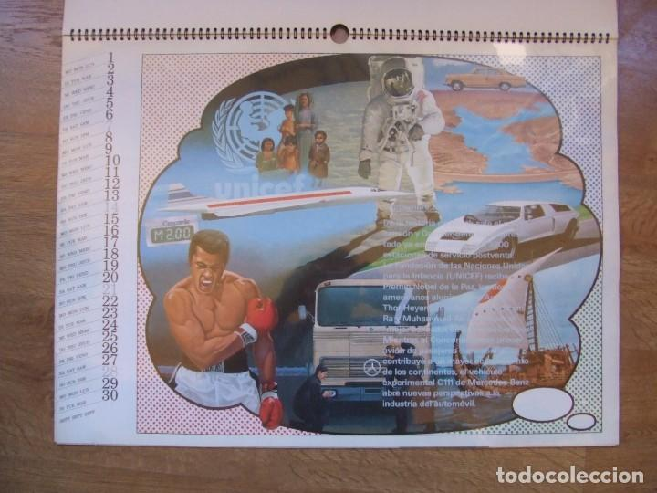 Coches y Motocicletas: MERCEDES BENZ CALENDARIO PROMOCIONAL CENTENARIO AÑO 1986 - Foto 16 - 99366083