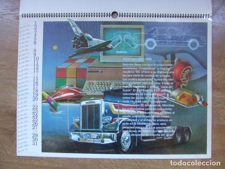 Coches y Motocicletas: MERCEDES BENZ CALENDARIO PROMOCIONAL CENTENARIO AÑO 1986 - Foto 19 - 99366083