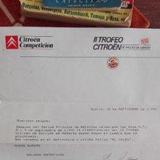 Coches y Motocicletas: II TROFEO CITROEN DE RALLIES DE ASFALTO. Lote 99725623