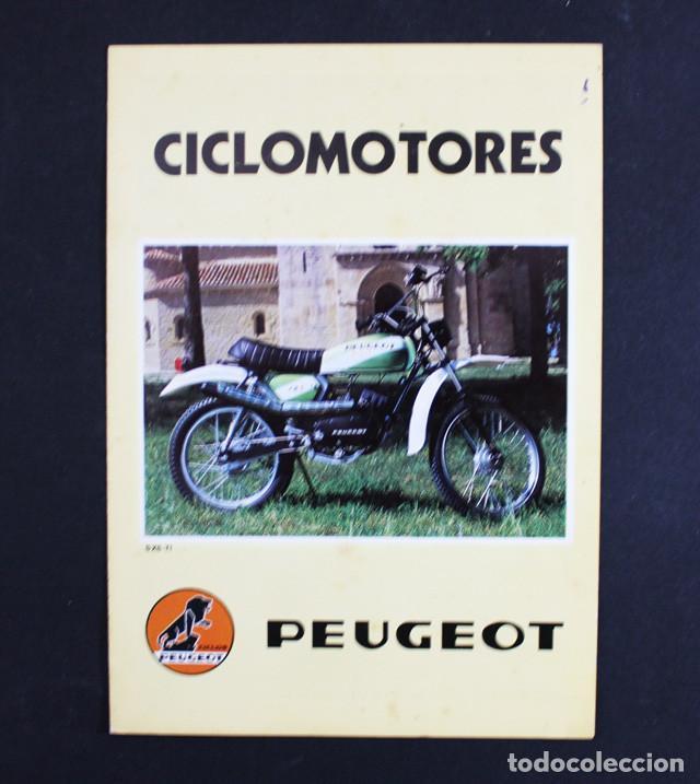 CATALOGO FOLLETO DIPTICO CICLOMOTORES PEUGEOT 21 X 15 CM (DESPLEGADO 21 X 30 CM) 1979 (Coches y Motocicletas Antiguas y Clásicas - Catálogos, Publicidad y Libros de mecánica)