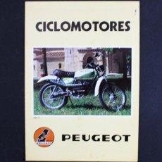 Coches y Motocicletas: CATALOGO FOLLETO DIPTICO CICLOMOTORES PEUGEOT 21 X 15 CM (DESPLEGADO 21 X 30 CM) 1979. Lote 99815943