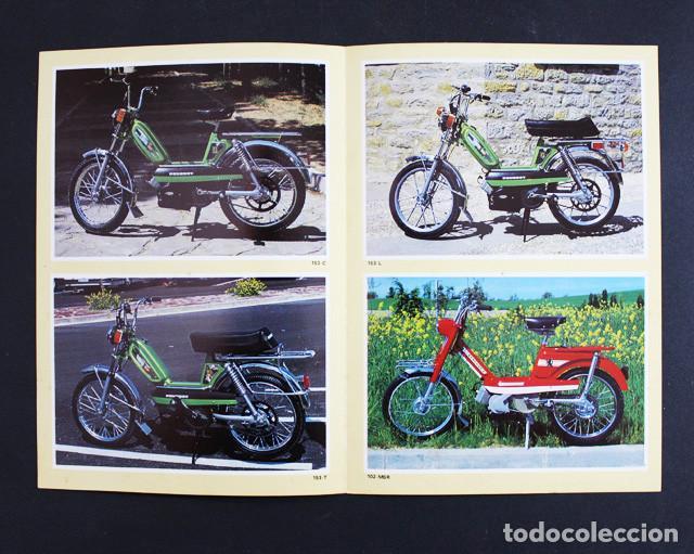 Coches y Motocicletas: CATALOGO FOLLETO DIPTICO CICLOMOTORES PEUGEOT 21 X 15 CM (DESPLEGADO 21 X 30 CM) 1979 - Foto 2 - 99815943