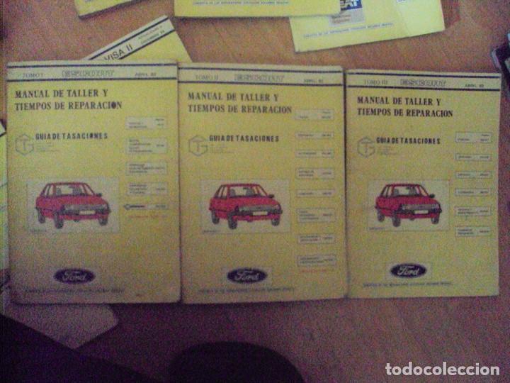 FORD ESCORT, GASOLINA, MANUAL DE TALLER, GUIA DE TASACIONES, 4 TOMOS, ABRIL 1982 (Coches y Motocicletas Antiguas y Clásicas - Catálogos, Publicidad y Libros de mecánica)