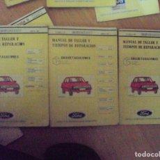 Coches y Motocicletas: FORD ESCORT, GASOLINA, MANUAL DE TALLER, GUIA DE TASACIONES, 4 TOMOS, ABRIL 1982. Lote 100508811