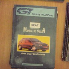 Coches y Motocicletas: MANUAL DE TALLER DEL SEAT IBIZA '93 Y CÓRDOBA (MAYO DE 1994) GUIA DE TASACIONES. Lote 145035332