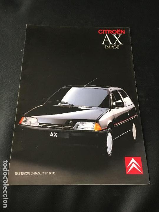 FOLLETO CATALOGO PUBLICIDAD ORIGINAL CITROEN AX IMAGE CITROËN 1989 (Coches y Motocicletas Antiguas y Clásicas - Catálogos, Publicidad y Libros de mecánica)