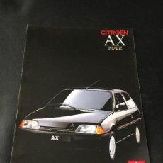 Coches y Motocicletas: FOLLETO CATALOGO PUBLICIDAD ORIGINAL CITROEN AX IMAGE CITROËN 1989. Lote 100729991