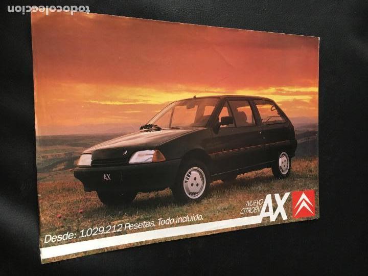 FOLLETO CATALOGO PUBLICIDAD ORIGINAL CITROEN AX CITROËN 1988 (Coches y Motocicletas Antiguas y Clásicas - Catálogos, Publicidad y Libros de mecánica)