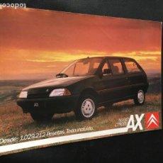 Coches y Motocicletas: FOLLETO CATALOGO PUBLICIDAD ORIGINAL CITROEN AX CITROËN 1988. Lote 100730515