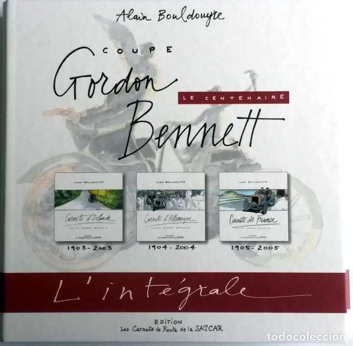 ESTUCHE CENTENARIO COPA GORDON BENNET CON TRES LIBROS + MONEDA + PLANO CIRCUITO (Coches y Motocicletas Antiguas y Clásicas - Catálogos, Publicidad y Libros de mecánica)