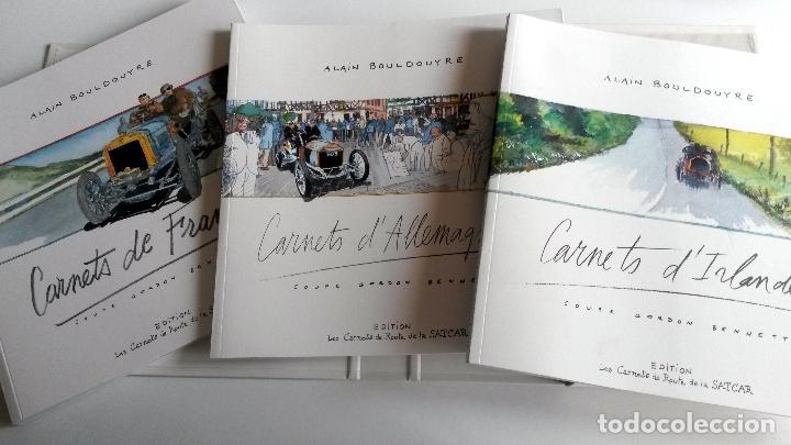Coches y Motocicletas: ESTUCHE CENTENARIO COPA GORDON BENNET CON TRES LIBROS + MONEDA + PLANO CIRCUITO - Foto 3 - 101068239