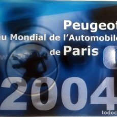 Coches y Motocicletas: DOSSIER DE PRENSA OFICIAL PEUGEOT - MUNDIAL DEL AUTOMÓVIL 2004 - TEXTO EN FRANCÉS.. Lote 101382511