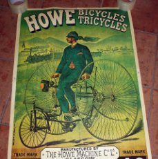 Poster Vintage Retro Howe Bicycles Tricycles Sold Through Direct Sale 102077943