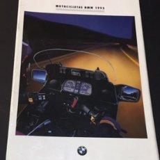 Coches y Motocicletas: CATALOGO FOLLETO PUBLICIDAD ORIGINAL DE LA GAMA DE MOTOCICLETAS BMW DE 1992 Y FICHAS TECNICAS. Lote 102107399
