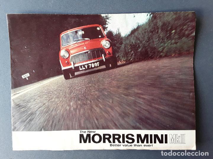POSTER PUBLICIDAD MORRIS MINI MKII, BRITISH MOTOR CORPORATION LTD 1967 (Coches y Motocicletas Antiguas y Clásicas - Catálogos, Publicidad y Libros de mecánica)