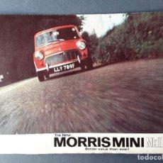 Coches y Motocicletas: POSTER PUBLICIDAD MORRIS MINI MKII, BRITISH MOTOR CORPORATION LTD 1967. Lote 102615083