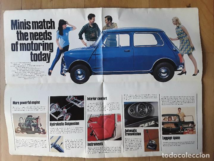 Coches y Motocicletas: poster publicidad morris mini mkII, british motor corporation ltd 1967 - Foto 3 - 102615083