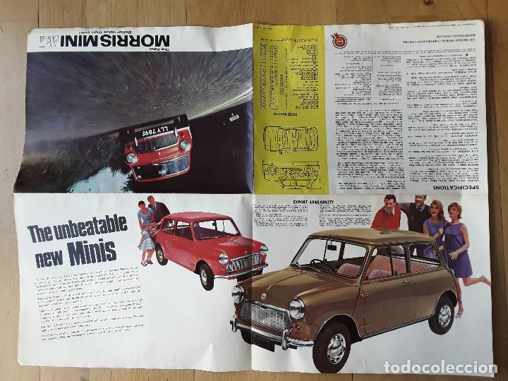 Coches y Motocicletas: poster publicidad morris mini mkII, british motor corporation ltd 1967 - Foto 4 - 102615083