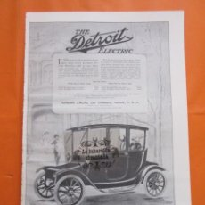Coches y Motocicletas: CARTEL - THE DETROIT ELECTRIC --- TRASERA --- PIERCE ARROW - 28 X 41 CM.. Lote 103513215
