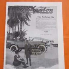 Coches y Motocicletas: CARTEL - LEXINGTON MAN SIX --- TRASERA - PAIGE DETROIT MOTOR CAR CO. - 28 X 41 CM.. Lote 103514415
