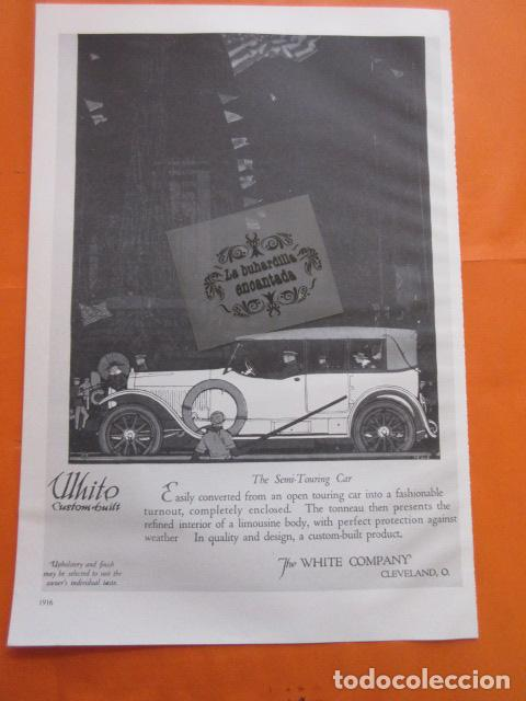 Coches y Motocicletas: CARTEL - BAKER ELECTRIC RAUCH & LANG ELECTRICS --- TRASERA - WHITE CUSTOM BUILT - 28 x 41 CM. - Foto 2 - 103514891