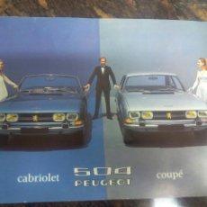 Coches y Motocicletas: PEUGEOT 504 CABRIOLET - COUPE .- CATALOGO 1970. Lote 103663004