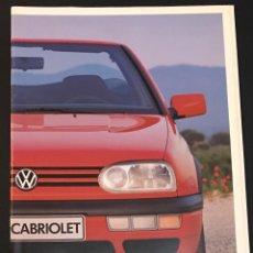 Coches y Motocicletas: FOLLETO CATALOGO PUBLICIDAD ORIGINAL VOLKSWAGEN GOLF CABRIOLET DE 1994. Lote 104319667