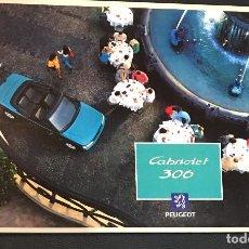 Coches y Motocicletas: FOLLETO CATALOGO PUBLICIDAD ORIGINAL PEUGETO 306 CABRIOLET. Lote 104319939