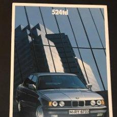 Coches y Motocicletas: FOLLETO CATALOGO PUBLICIDAD ORIGINAL BMW 524TD 524 TD DE 1990. Lote 104320183