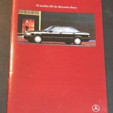 Coches y Motocicletas: FOLLETO CATALOGO PUBLICIDAD ORIGINAL MERCEDES BENZ 190 DE 1990. Lote 104320727