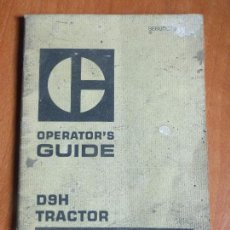 Coches y Motocicletas: OPERATOR'S GUIDE FOR DH9 TRACTOR 90V1-UP CATERPILLAR BOOK 1974 - U.S.A - LIBRO MECÁNICA . Lote 104388459