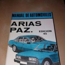 Coches y Motocicletas - MANUAL DE AUTOMÓVILES - ARÍAS PAZ 1982 - 104739090