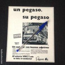 Coches y Motocicletas: PEGASO AUTOCAR 5031 L1 ENASA AUTOBUS BUS - RECORTE PRENSA REVISTA ANUNCIO PUBLICIDAD. Lote 105014967
