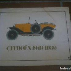 Coches y Motocicletas: CITRÖEN 1919-1939 - LIBRO O CATÁLOGO DE LA CITRÖEN 1919-1939. Lote 105130755