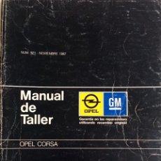Coches y Motocicletas: GUÍA DE TASACIONES OPEL CORSA - NOVIEMBRE 1987.. Lote 141311790