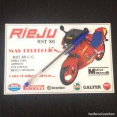 Coches y Motocicletas: RIEJU RST 80 DOBLE FARO MOTOR MINARELLI NO DERBI GPR - RECORTE PRENSA REVISTA ANUNCIO PUBLICIDAD. Lote 105341515